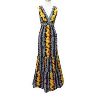CAbi lemons maxi dress